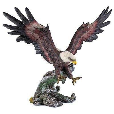 Bald Eagle In Flight Figurine 9.5 Inch Wingspan Highly Detailed Resin NIB
