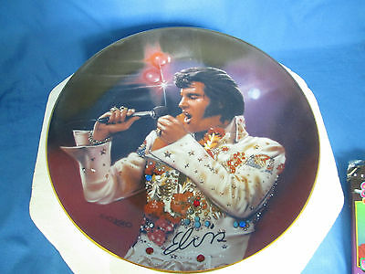 Elvis -The King - Remembering Elvis Jeweled Collector Plate Limited Ed Brandex
