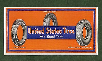"UNITED STATES TIRES Unused Blotter - 3¼""x6¼"", c.1930, Exc Condition"