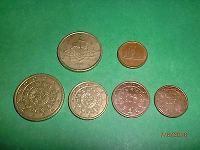 - Italy(2) + Portugal(4) - 6  Euro  Coins –   2002 - #7Af