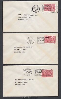 CANADA 1937 22X 3C KING GEORGE VI CORONATION FIRST DAY COVERS FDCs CAT $165