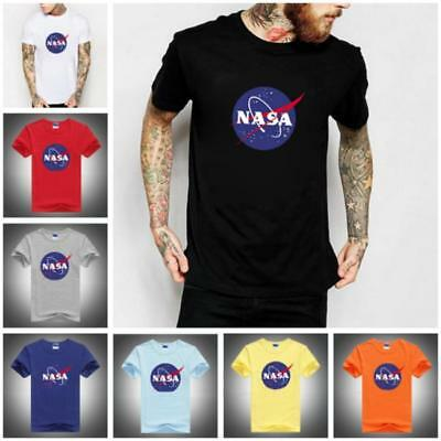 NASA Space Astronaut T-Shirt - Cool Geek Nerd Star Logo Unisex Men Gift Top BS
