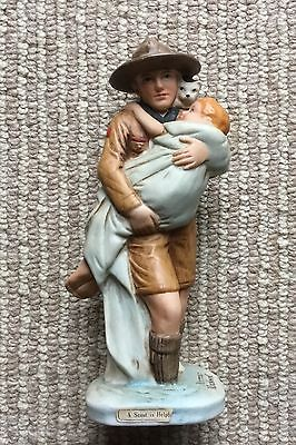 Vtg Boy Scouts America Norman Rockwell Figurine - Scout is Helpful Dave Grossman
