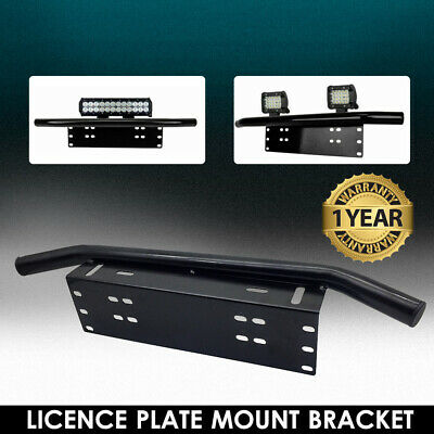 Number Plate Bullbar Frame For Driving Light Bar Mount Mounting Bracket Black