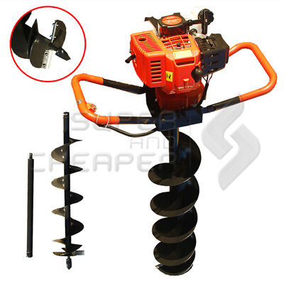TmaxPro Garden Tool E-Start 68cc Petrol Post Hole Digger Earth Borer Auger