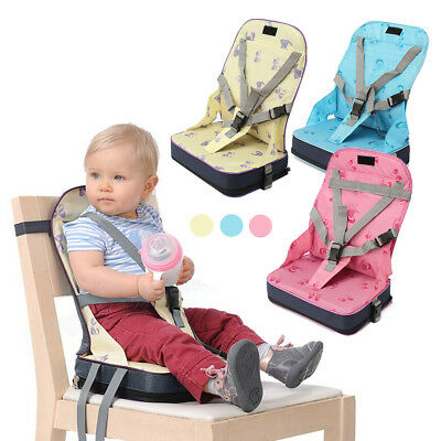 Baby Toddler Foldable Dining High Chair Feeding Booster Seat w/ Harness 3 Color