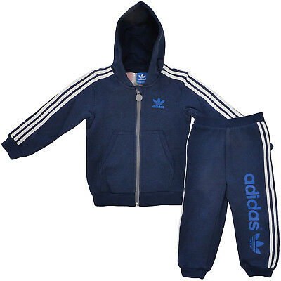 adidas Originals Infants Boys Hooded Hoodie Hoody & Pants Bottoms Set - B GRADE