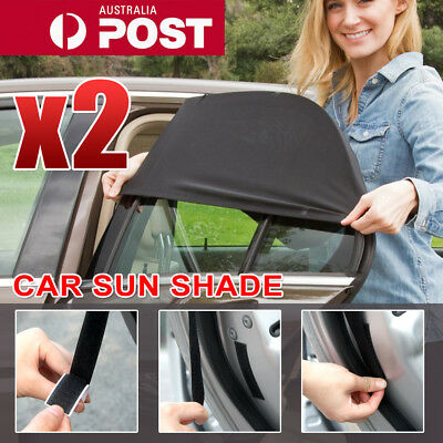 2x Universal Sun Shades Socks Rear Side Seat Car Window Sox Baby Kids Protection