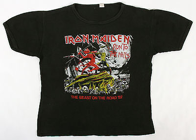 Iron Maiden 1982 The Beast On The Road Tour Concert T-Shirt - Original