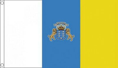 CANARY ISLANDS FLAG 5' x 3' Spain Spanish Isles State Flags