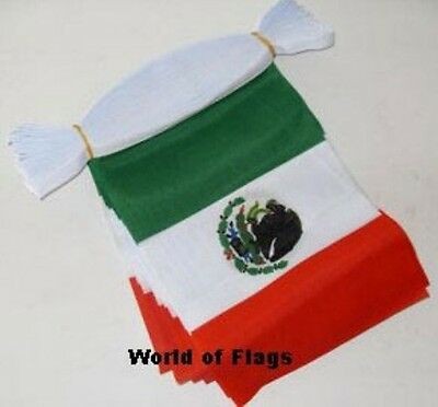 MEXICO BUNTING Mexican Flag 9m 30 Polyester Fabric Party Flags 9 Metres