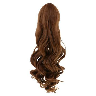 Custom Use Fantasy Wavy Hair Wig For 18'' American Girl Doll Light Brown #6