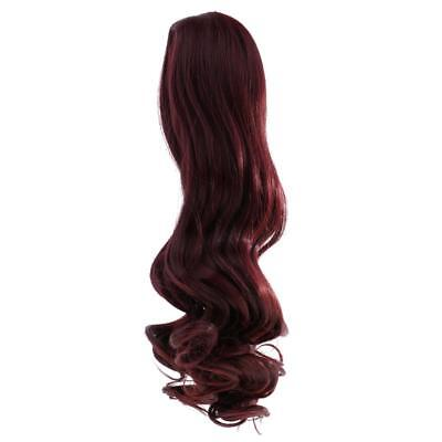 Wavy Curly Hair Wig for 18'' American Girl Doll DIY Making ACCS Wine Red #7