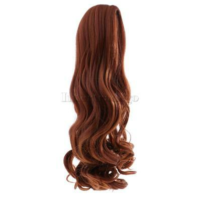 Full Head Wavy Curly Hair Wig for 18'' American Girl Doll DIY Making Brown#1
