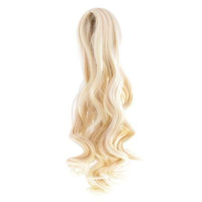 Dolls Wavy Curly Hair Wig for 18'' American Girl Doll DIY Change Gold#3