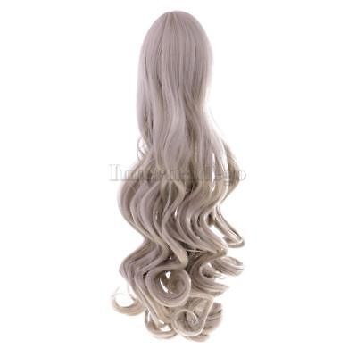 Wavy Hair Wig Hairpiece for 18'' American Girl Doll DIY Making White Grey