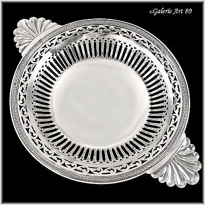 """BARDIES : Antique French Sterling Silver 11"""" Ecuelle style Footed Serving Dish"""