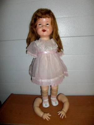 Ideal ~ Vintage 1950's HP Saucy Walker Doll 22""