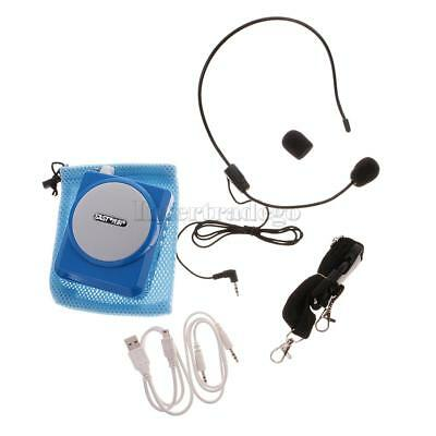 Portable Voice Amplifier Multifunctional Loudspeaker Teaching & Guiding Blue
