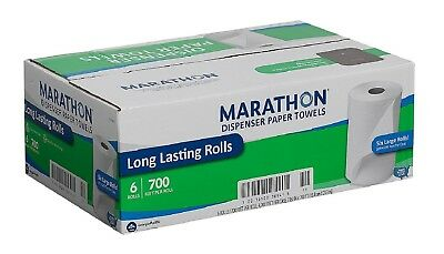 new MARATHON DISPENSER ROLL HAND PAPER TOWELS 700 FT 6 ROLLS - Free Shipping