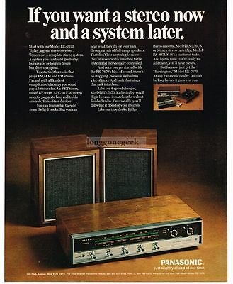 1970 PANASONIC RE-7670 Receiver Speaakers Stereo Hi-fi System VTG PRINT AD