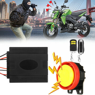 M.Way Motorcycle Motorbike Bike Scooter Anti-theft Security Alarm 2 Remote 12V