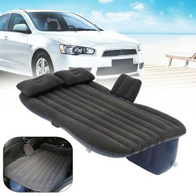 Inflatable Travel Camping Car Seat, Sleep Rest Mattress Air Bed w/ 2 Pillows 5cm