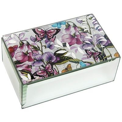 Sweet Pea Garden Oblong Jewelry Box