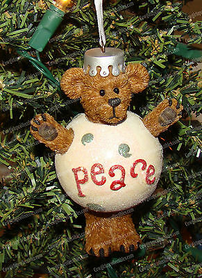Peace Plump, Waddle (Boyds Bear by Enesco, 4016674) Christmas Ornament