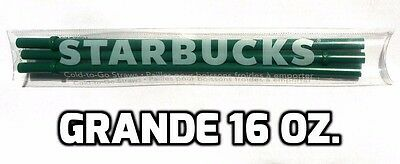 STARBUCKS GRANDE Replacement Straws 3 pack 16oz Green Cold-to-Go Authentic >NEW<