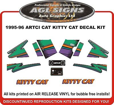 1995 1996 Arctic Cat Kitty Cat Decal Kit Reproductions