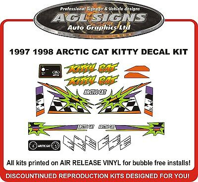 1997 1998 ARCTIC CAT Kitty Cat  Reproduction Decal kit
