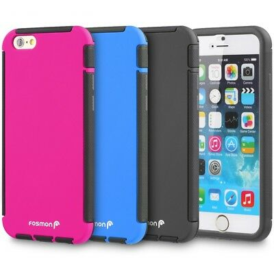 Hybrid Shockproof Case Cover w/ Built In Screen Protector iPhone 6 Plus 6s Plus