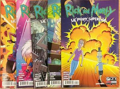 Rick and Morty Lil Poopy Superstar #1-5 Variants Complete Oni Comic Book NM  wh