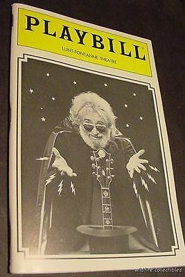 JERRY GARCIA BAND  GRATEFUL DEAD 80s CONCERT PLAYBILL PROGRAM broadway art the