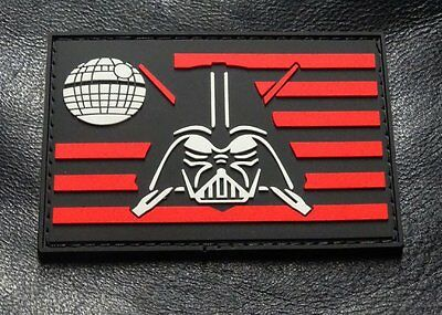Darth Vader Flag Star Wars Tactical Morale Patch (HOOK-3D PVC Rubber)