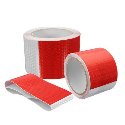 3/5M Reflective Safety Warning Conspicuity Tape Sticker Roll Film Trailer Strip