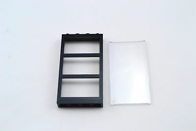 Lego 1x4x6 Frame with 3 Panes Black Transparent Clear Glass Window Lot of 1 New