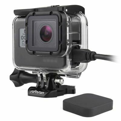 Side Opening Case Wire Connectable Skeleton Housing Mount For GoPro Hero 5 Black