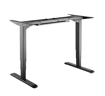 Twin Motor Height Adjustable Electric Sit Stand Desk Table Black Frame only