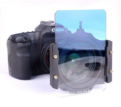 """100x150mm 4""""x6"""" Graduated Blue Color Filter Kit for Cokin Z Lee Hitech Singh-Ray"""