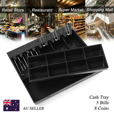 5 Bill 8Coin Cashier Drawer Cash Register Insert Tray  Money Storage Cashier AU