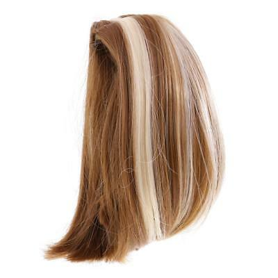 Dolls Short Straight Hair Wig for 18'' American Girl Doll DIY Making #12