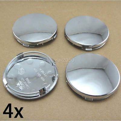 "4 pcs wheel rim center cap caps insert cover 2.25"" 2-1/2"" 60mm Chrome Silver"