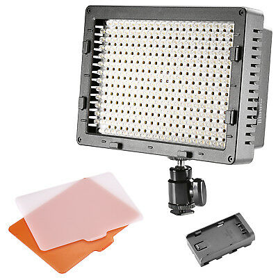 Neewer CN304 On-Camera Dimmable LED Vedio Light for Canon Nikon Sony Pentax DSLR