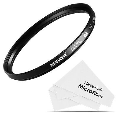 Neewer 67MM UV Lens Filter + Microfiber Cleaning Cloth for DSLR Cameras