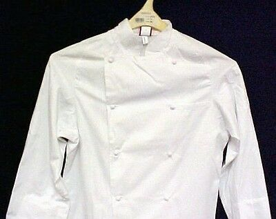 Dickies White Grand Master Chef Coat CW070101 Jacket Egyptian Cotton Twill 52