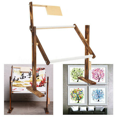 Adjustable Cross Stitch Embroidery Frame Solid Wood Craft Stand Holder 30x40cm