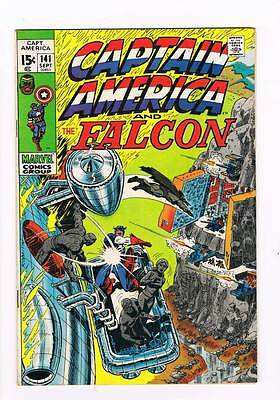 Captain America # 141 The Grey Gargoyle grade 7.5 scarce book !!