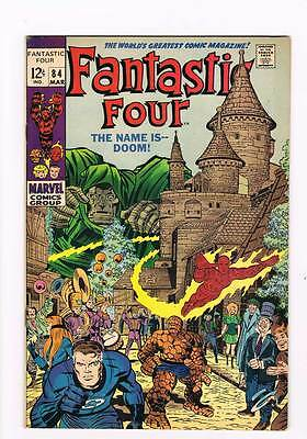 Fantastic Four # 84  The Name is--Doom !  grade 8.0 scarce book !